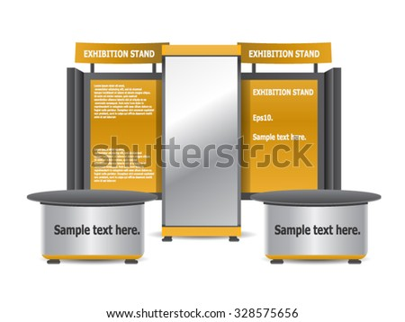 Trade, Sales Complete Exhibition Stand Editable - stock vector