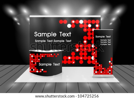 trade show booth - stock vector