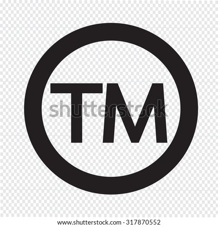 Trademark Symbol Icon - stock vector