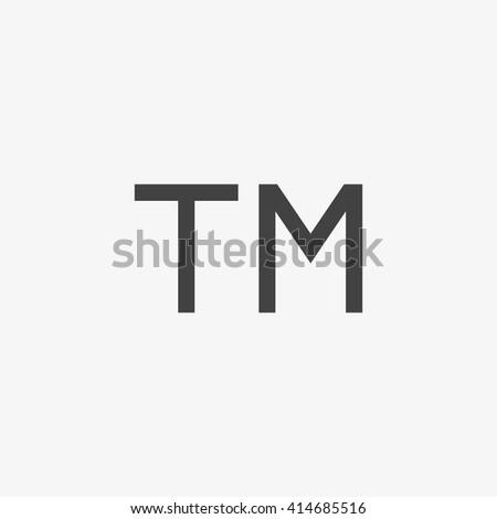 Trademark symbol, Trademark icon, Trademark sign,  Trademark vector, Trademark EPS, Trademark App, Trademark UI, Trademark Art, Trademark Logo, Trademark Web, Trademark JPG, Trademark Image - stock vector