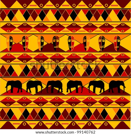 Traditional african pattern stock vector