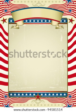 Traditional american background. Grunge Image with red stripes and stars shapes. Great background to make use of an advertising. See another illustrations like this on my portfolio. - stock vector