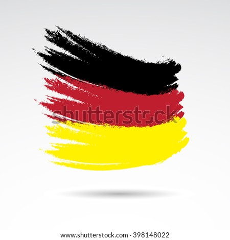 Traditional colors and flag of Germany. Vector illustration. - stock vector