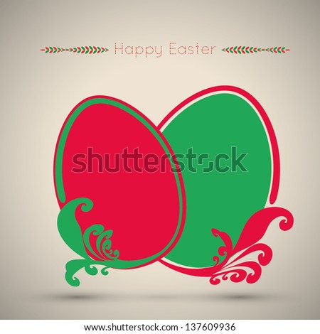 Traditional easter eggs - stock vector