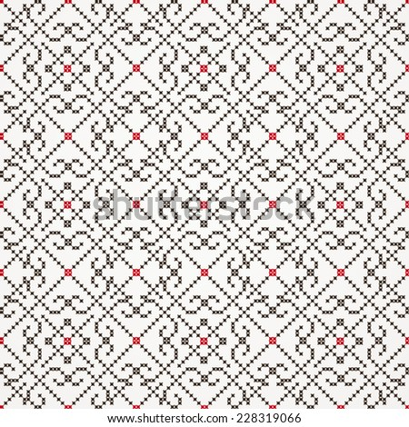 Traditional embroidered pattern- seamless - stock vector