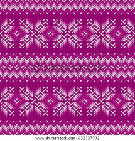 Traditional Fair Isle Knitted Pattern Vector Stock Vector 632337932