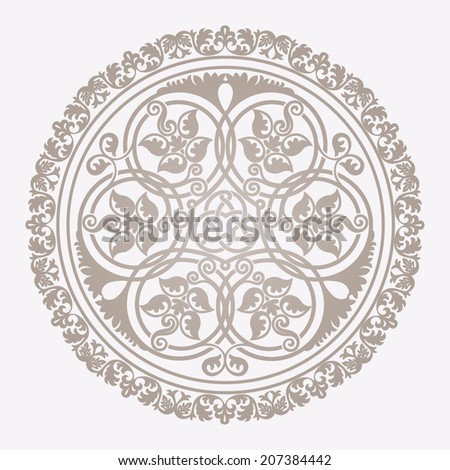 Traditional floral islamic ornament - stock vector