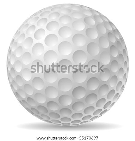 Traditional golf ball vector illustration. - stock vector