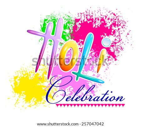 Traditional Holi background of India in vector - stock vector