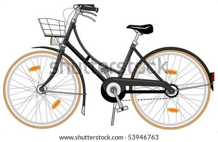 traditional holland bicycle - stock vector