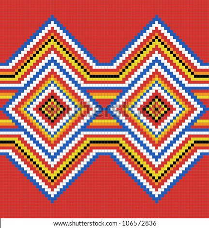 Traditional (native) American Indian pattern, vector