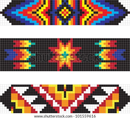 Traditional native American pattern, vector illustration