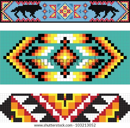 Native american bead pattern