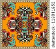 Traditional ornamental floral paisley bandanna. You can use this pattern in the design of carpet, shawl, pillow, cushion - stock photo