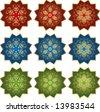 Traditional ottoman design icon set - stock vector