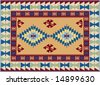 Traditional Ottoman Turkish Carpet Design - stock vector