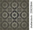 Traditional ottoman turkish seamless tile design - stock vector