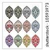 Traditional ottoman turkish tile design - stock vector