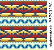 Traditional pattern of native american - stock vector