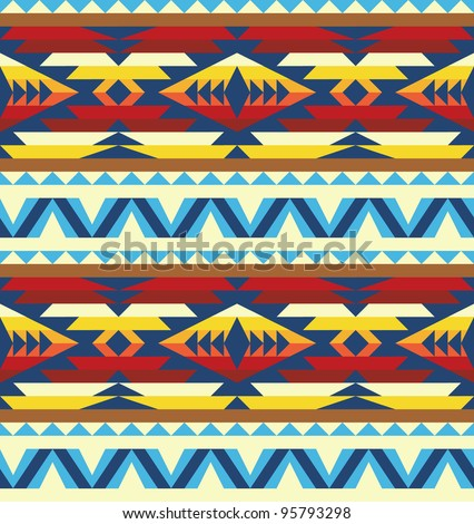 Native american pattern Stock Photos, Illustrations, and Vector Art