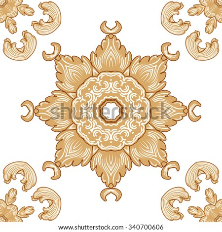traditional pattern of textile industry cotton flowers vector graphic beautiful texture - stock vector