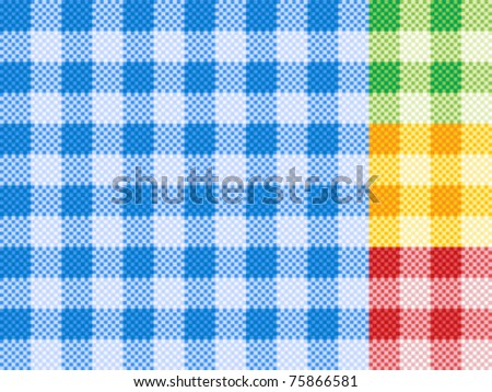 Traditional picnic tablecloth pattern - stock vector