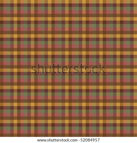 Traditional Plaid Pattern; vector format - stock vector