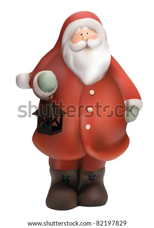 Traditional red-suited Santa Claus - stock vector