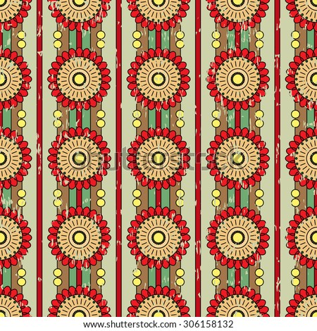 Traditional romanian embroidery pattern - stock vector