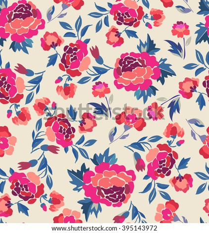 Traditional Rosie Spanish design ~ seamless backround - stock vector