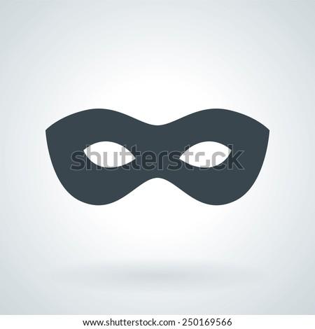 Traditional Venetian Carnival Mask Flat Icon - stock vector