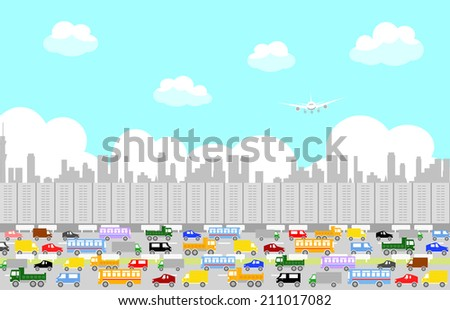 traffic - stock vector