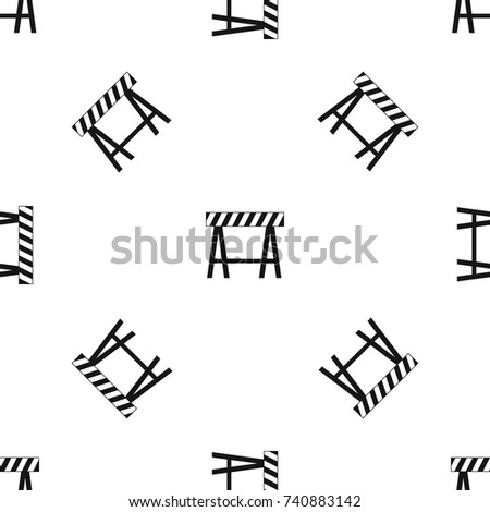 Traffic barrier pattern repeat seamless in black color for any design. Vector geometric illustration