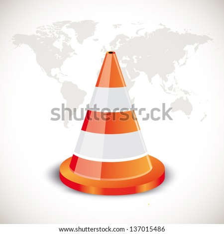 Traffic Cone - stock vector