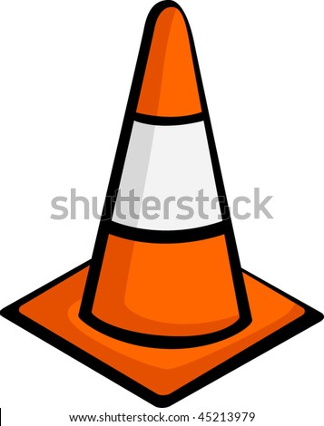 traffic cone - stock vector