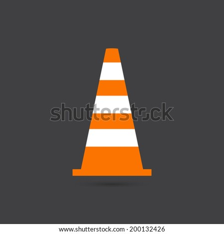 Traffic cone icon - Vector - stock vector