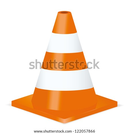 Traffic cone. Vector illustration - stock vector