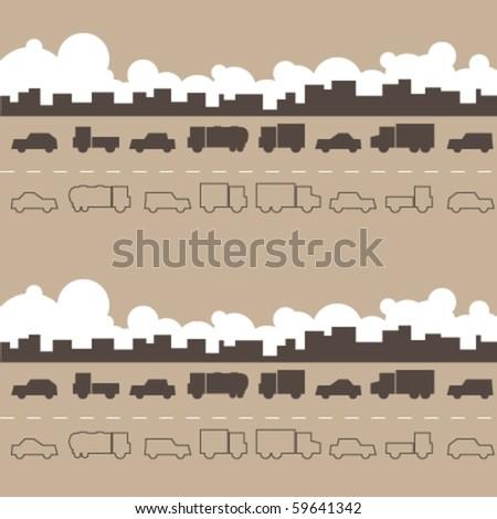 Traffic jam. - stock vector