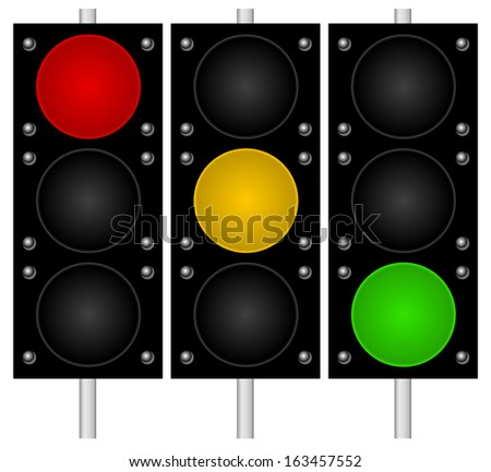 Traffic lamps - stock vector