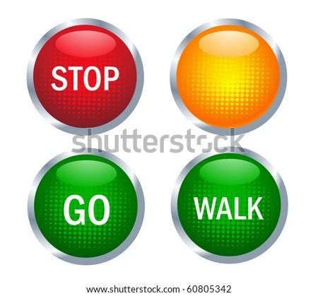 Traffic light - stock vector