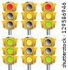 Traffic light concept - stock photo