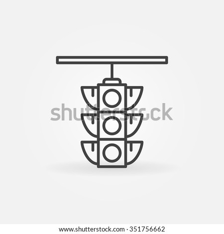 Traffic light icon - vector city linear symbol or logo element - stock vector
