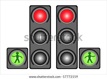 Traffic light illustration - stock vector
