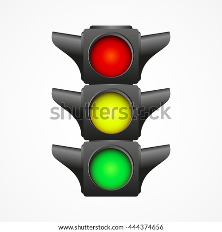 Traffic light illustration, isolated on white