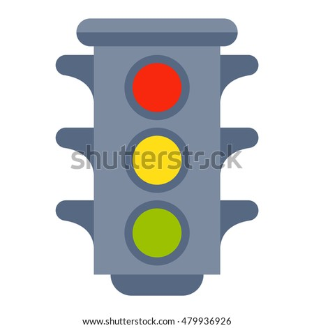Traffic light isolated vector illustration.
