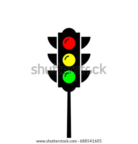 Traffic Light Pole Red Green Yellow Stock Photo (Photo, Vector ...