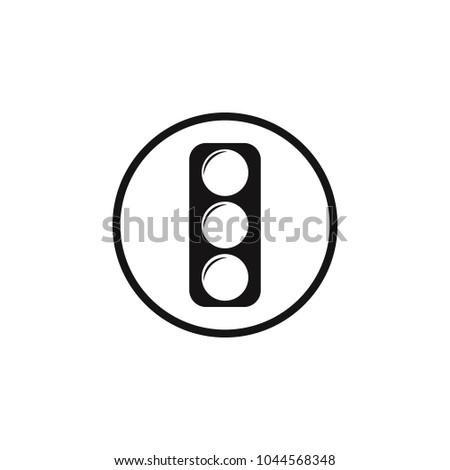 Traffic Light Sign Icon Element Danger Stock Vector 1044568348