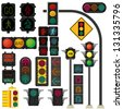 Traffic light vector - stock photo