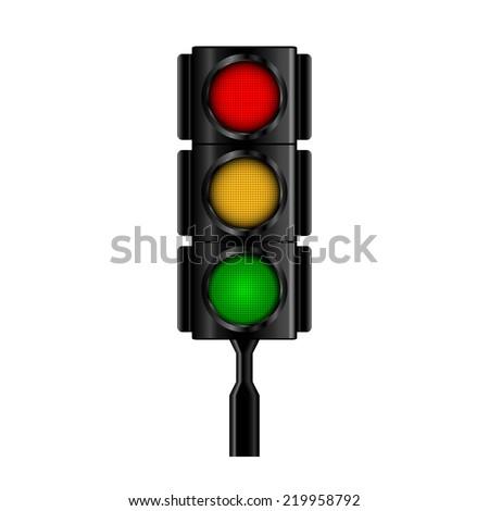 Traffic light. Vector illustration. - stock vector