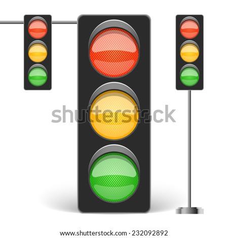 Traffic light vector illustration - stock vector